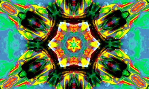 Canva - Chakra, Art, Heart, Healing, Blue, Yellow, Meditation